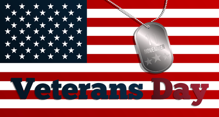 Veterans Day banner design. Illustration