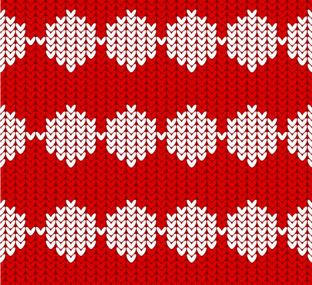 Seamless Winter Holiday  Knitting Pattern. Sweater and jumper Design. Vector Illustration