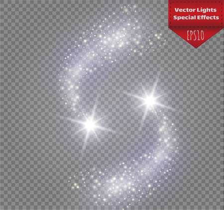 A bright with large dust pattern design. Illustration
