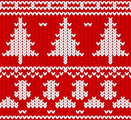 Knitted Christmas pattern design. Illustration