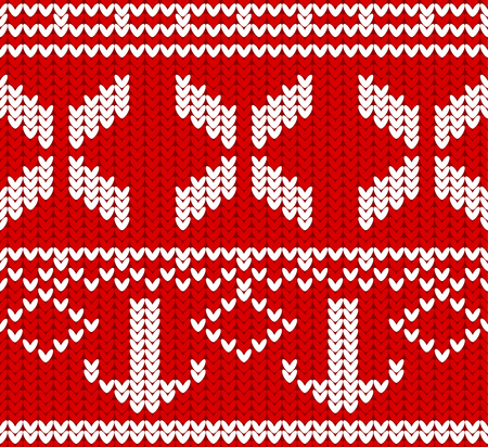 Seamless Winter Holiday Knitting Pattern Sweater And Jumper
