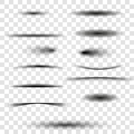 Set of transparent shadow. Vector illustration Vectores
