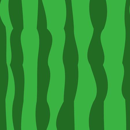 Wassermelone realistische Textur, nahtloser Musterhintergrund. Gestreifter Hintergrund der grünen Wassermelone des Sommers. Vektor-Illustration Vektorgrafik