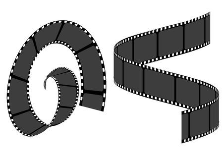 Set of film strip frame, vector template illustration Vecteurs