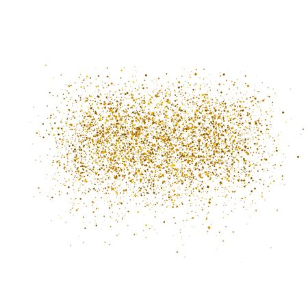 Gold sparkles on white background. Luxury golden shiny abstract texture. Vector illustration