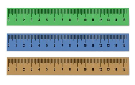 Ruler set Isolated on white background. school vector atrebutes.