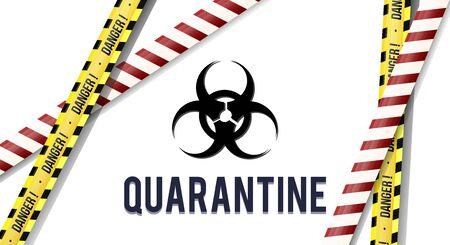Stripes of closed for quarantine pandemic Covid-19, MERS-Cov. Coronavirus quarantine biohazard sign. Warning quarantine yellow and black stripes Isolated on transparent background. Ilustrace