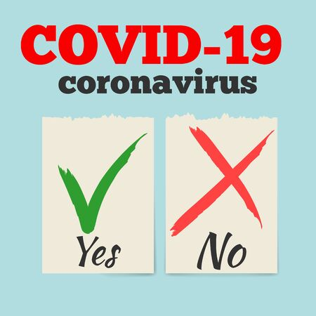 Test tube with blood sample for COVID-19, Coronavirus test. Positive and negative testing for COVID concept.