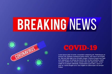 Breaking News. Wuhan. 2019-ncov. Coronavirus Outbreak Abstract Banner. Breaking news background for medical news and graphical image of statistics.