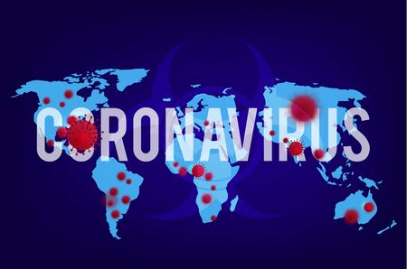 2019-ncov. Coronavirus Maps Banner . Breaking news background for medical news and graphical image of statistics. Ilustrace