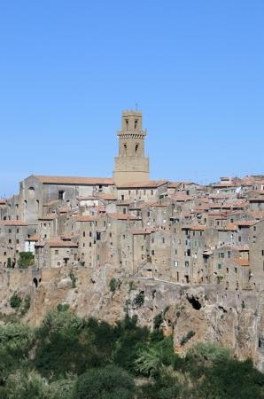 historica: The beautiful town Pitigliano in Tuscany