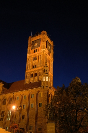 torun: Torun by night  Poland  Stock Photo