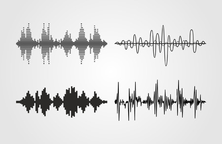 sonic: Set of vector sound waves. Audio equalizer technology, pulse musical. Can be used in club, radio, pub, party, concerts, recitals or the audio technology advertising background.