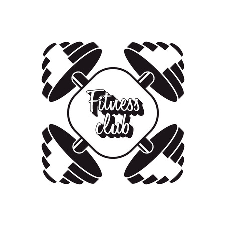 crossbar: fitness club design concept with two barbell