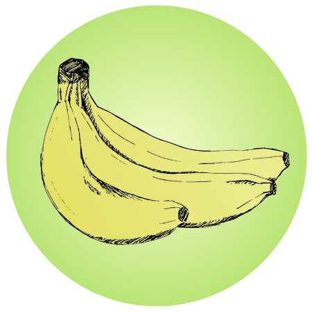 sheaf: Sheaf of juicy bananas. Fresh bananas of yellow color. The tasty and healthy food full of vitamins. Tropical fruit