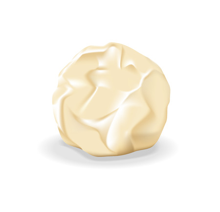 vector white chocolate on a light background Illustration