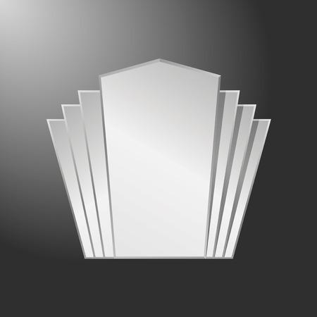 steel frame: Art deco decorative silver frame, steel frame
