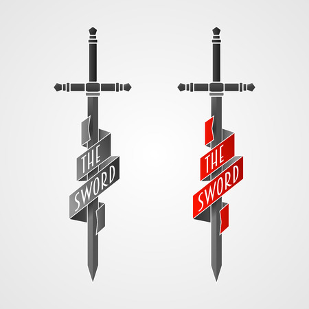 sword fight: Sword vector icon. Illustration