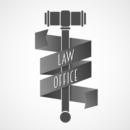 law office: Law office, lawyer services vector .  Vintage labels of the judge, the district attorney.