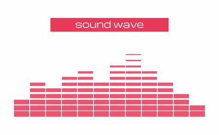 Sound Audio equalizer Wave Stock Illustratie