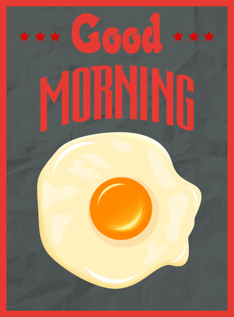 fried egg: Good morning poster concept with fried egg Illustration