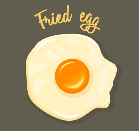 fried egg: Vector Fried Egg breakfast illustration Illustration