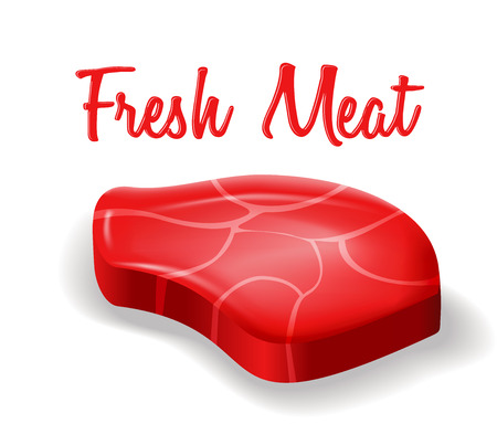 stake: Vector illustration of fresh meat stake