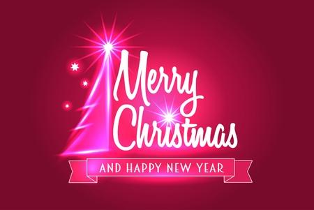 fond de texte: Joyeux notion de carte de voeux de Noël Illustration
