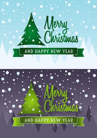 cristmas card: cristmas card set. design concepts with christmas tree