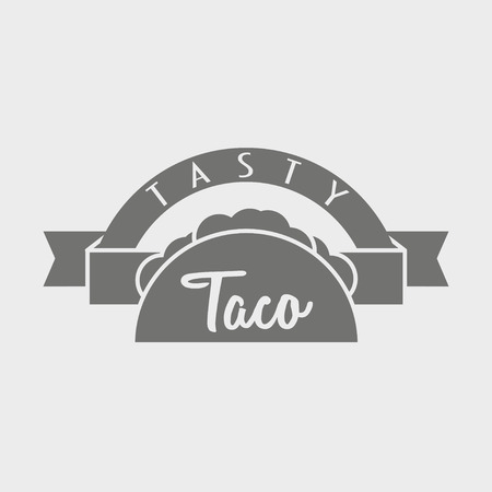 taco: Taco type concept or template . Illustration can be used to design menu, business cards, posters. Illustration