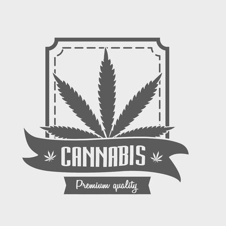 Marihuana - Cannabis für medizinische Zwecke. Vektorgrafik
