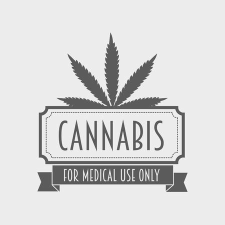 bong: Medical marijuana . Cannabis badge, labels design concept