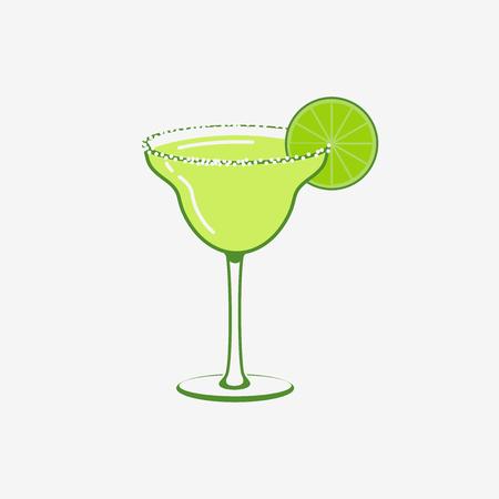 margaritas: Summer Margarita Cocktail Vector   Concept Illustration