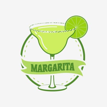 margarita cóctel: Summer Cocktail Margarita concepto de vector. Puede ser utilizado para el diseño de menús, folletos, carteles