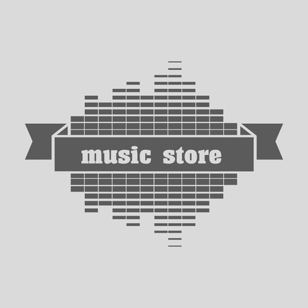 computer dancing: Music Store   Template Design Vector. Can be used for design posters, flyers or cards