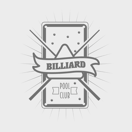 pool symbol: vector billiards symbol in vintage style, pool sign Illustration
