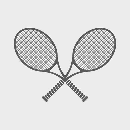 racquetball: iconos simples sobre un tema de gran tenis.