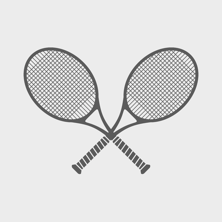 Simple icons on a theme of great tennis. Ilustração