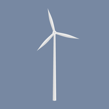 windfarm: Wind energy generator icon. Wind farm symbol.