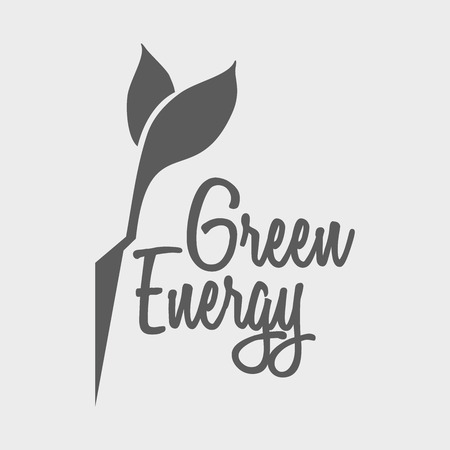 brand activity: Eco green energy logo vector design template with leaf and flash Illustration