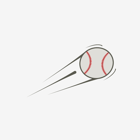 Vektor iconBaseballball, Sportausrüstung Standard-Bild - 57889488
