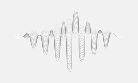wave: Music digital equalizer. Vector halftone sound wave illustration isolated on white background