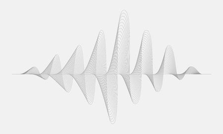 Vector halftone sound wave. Music Digital Equalizer. Illustration