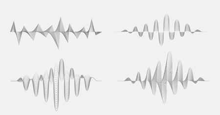 soundtrack: Vector sound waves. Music Digital Equalizer.