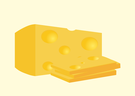 cheez: piece of cheese vector illustration