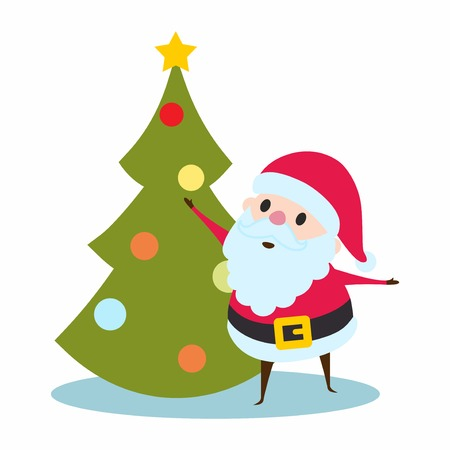 st  nick: Santa Claus and Christmas Tree