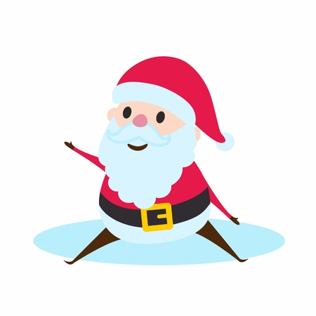 lapland: Santa Claus sitting. Merry Christmas and happy New Year design element.