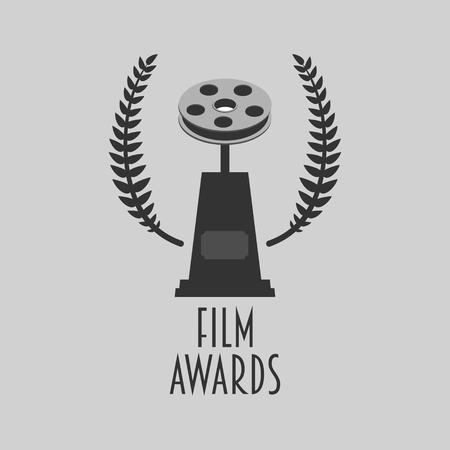 Film awards festival vector symbol or badge illustration Illustration
