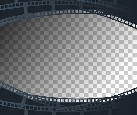 cinema screen: Background with retro filmstrip or movie reel with transparent effect