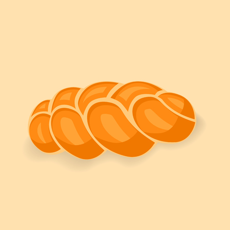 braided: Bakery vector illustration of delicious fresh bread